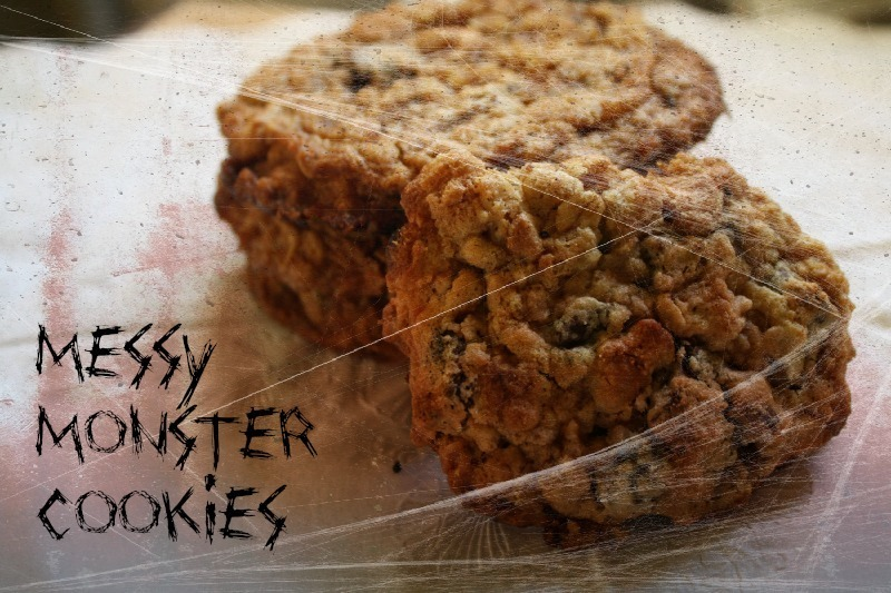 Messy Monster Cookies for #SundaySupper
