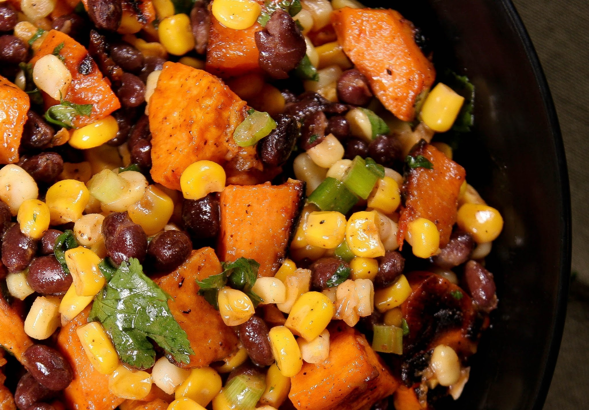 Mexican Potato and Black Bean Salad