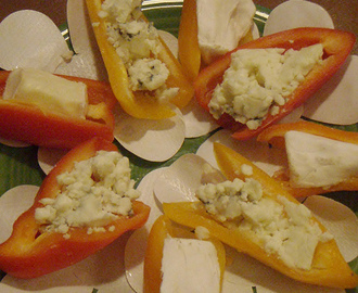 Sundays with Sparky - Brie and Blue Cheese Stuffed Peppers
