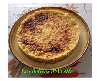 Quiche sans pâte au curry et aux fruits de mer