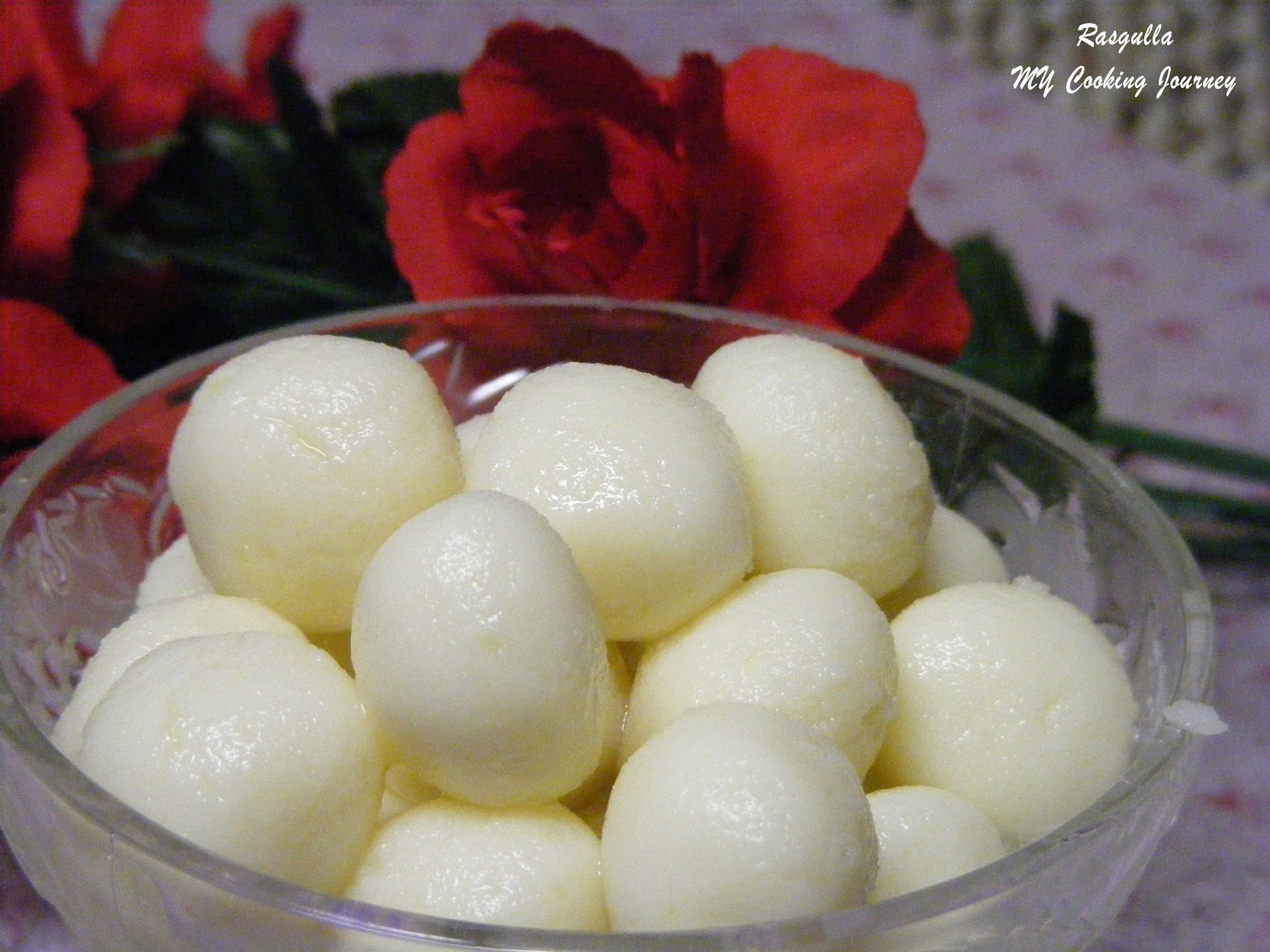 Rasgullas (Cheese balls simmered in sugar syrup) 100th post