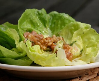 Bibb Lettuce with Tarragon Vinaigrette and Toasted Walnuts