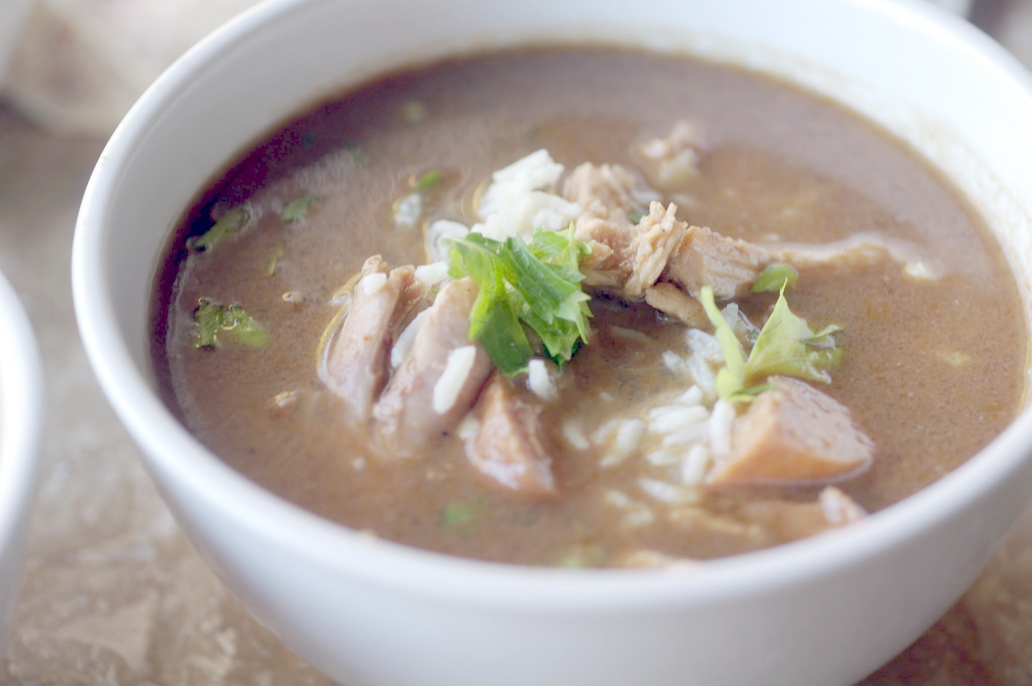 Leftover Turkey and Sausage Gumbo for #SundaySupper