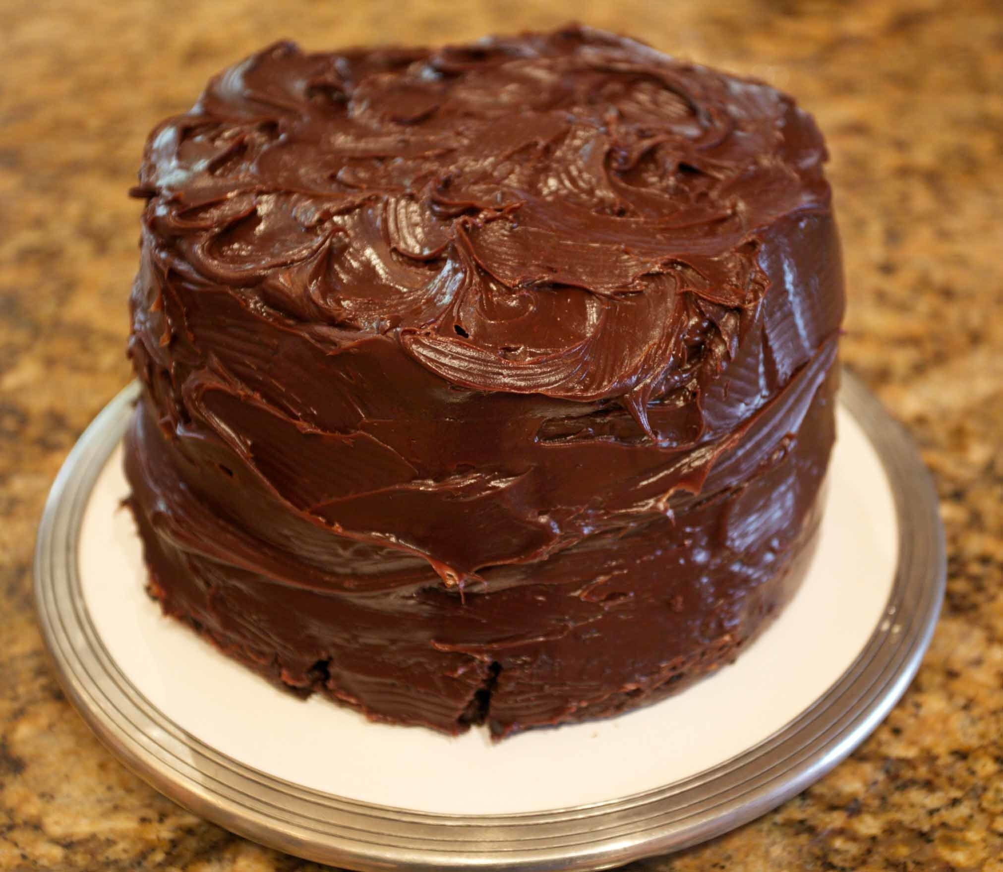 The Best Double Chocolate Cake