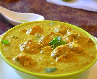 Coriander Chicken / Hariyali Murgh / Green Coriander Chicken Curry: