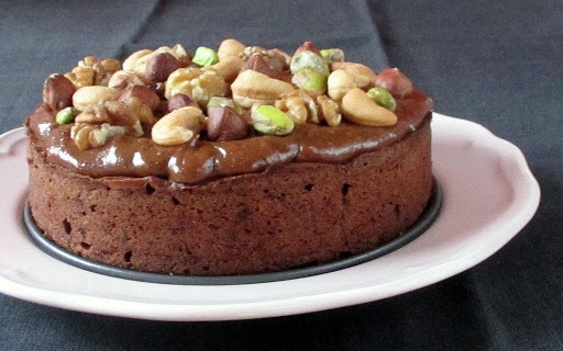 Chocolate Hazelnut Cake with Peanut Butter Frosting