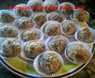 Trufas de queso con licor café con nueces en thermomix