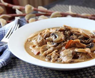 Pork Roast with Mushroom Gravy