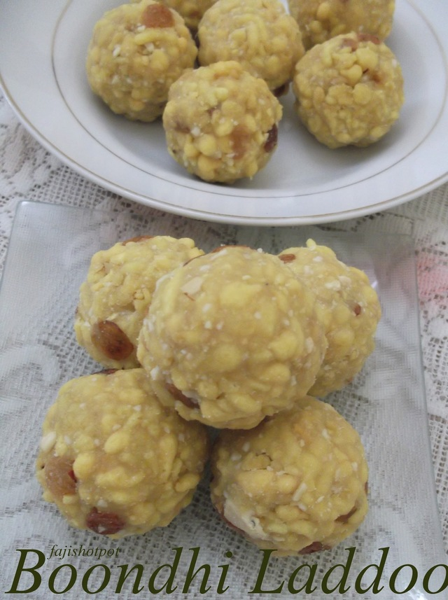 My Blog Turns 2!!!!!!!!!!!!! Celebrating With Boondhi Laddoo
