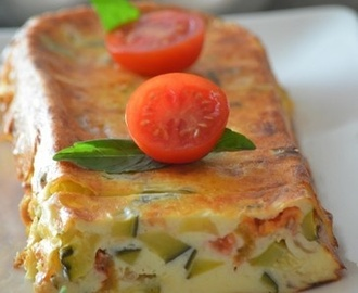 Terrine light tomate et courgette