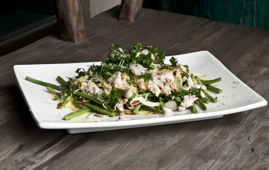 Leftover Roast Chicken Salad – Avocado, Green Beans and Almonds