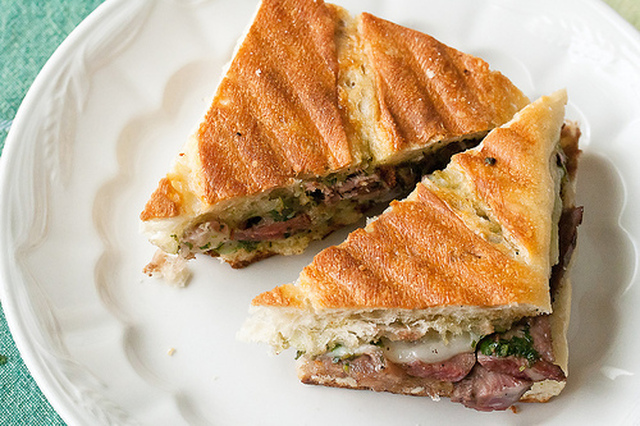 Hey Daddy-o!: Steak Panini with Chimichurri Sauce and a Giveaway