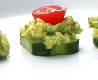 Avocado Cucumber Tomato Appetizers