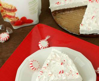 Peppermint Cream Brownie Pie with Truvia® + Giveaway!