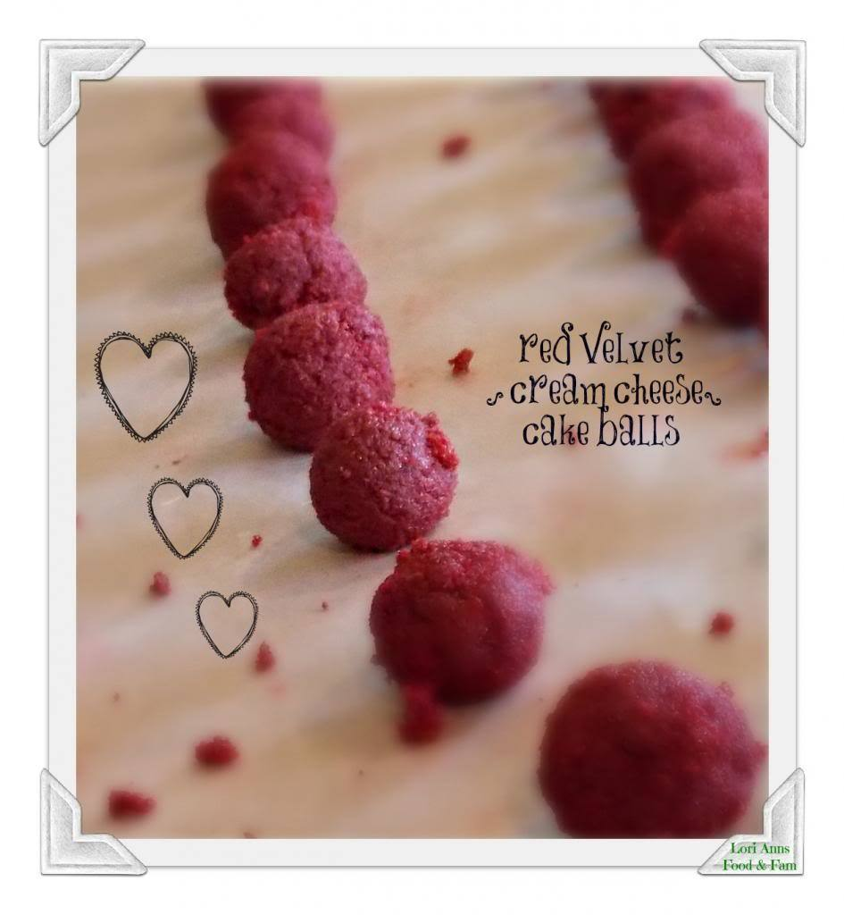 Red Velvet {cream cheese} Cake Balls