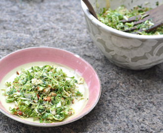 Brussels Sprouts Slaw with Dijon Vinaigrette