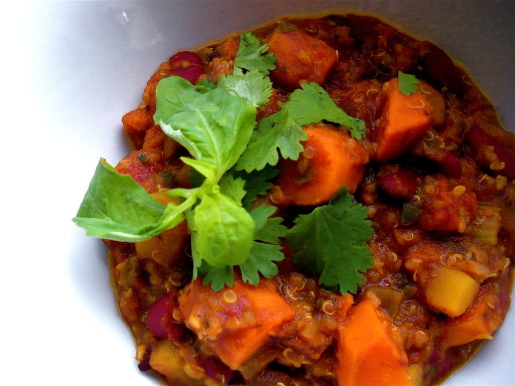 Bean & Butternut Chili with Quinoa