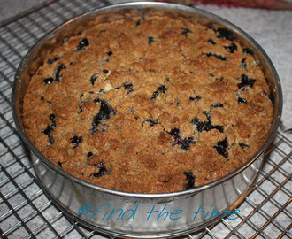 Blueberry Cake with Crumb Topping