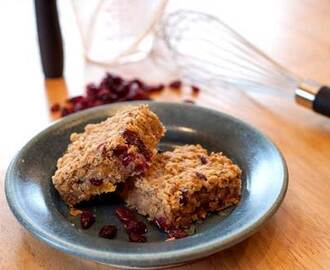 Sugar free banana and date flapjacks