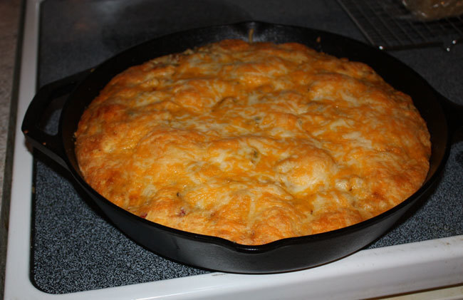 Chicken Taco Cornbread Pie