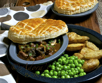 OPEN BEEF AND MUSHROOM PIES