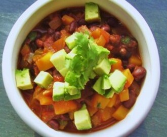 black bean & butternut squash chili