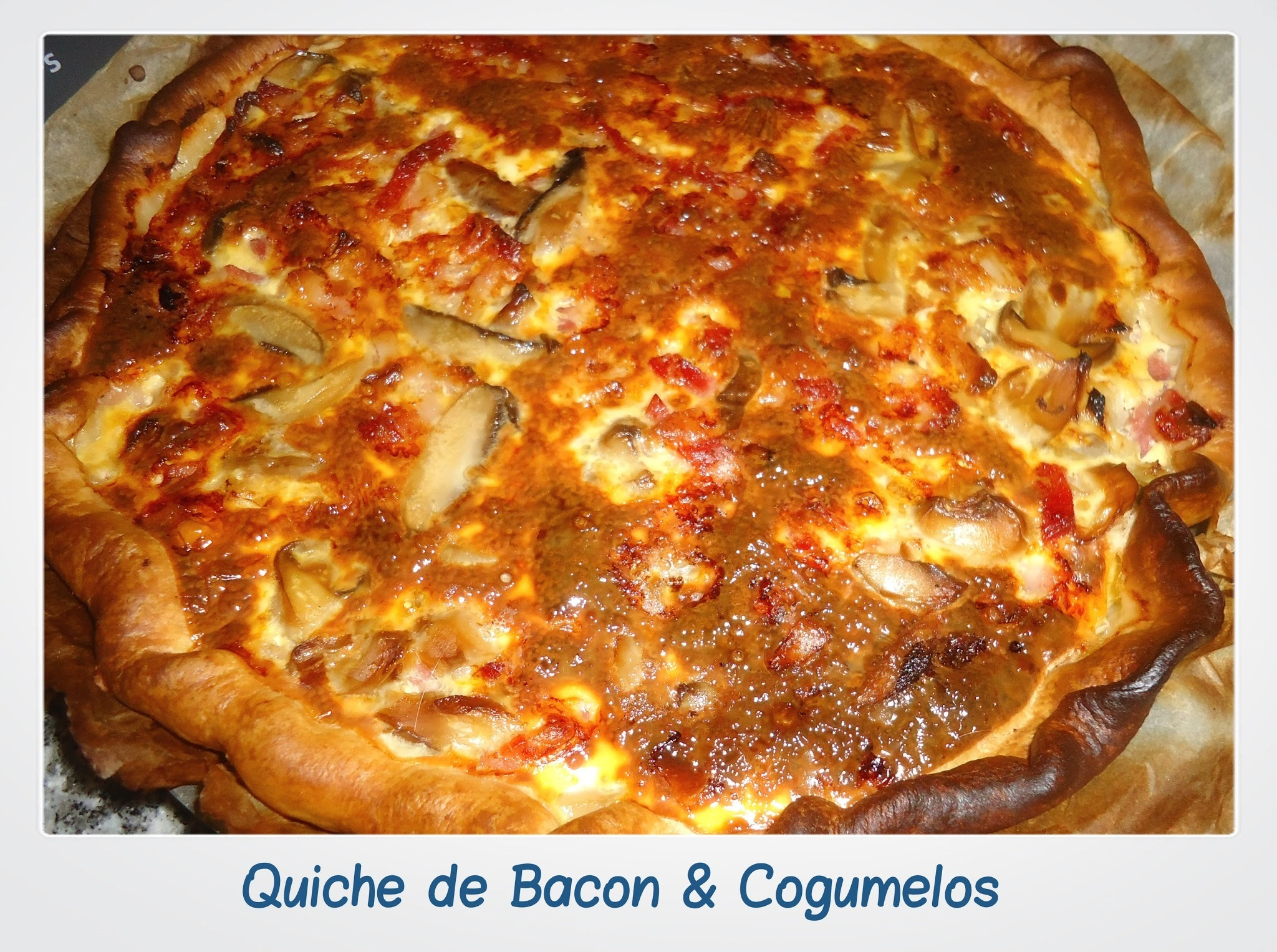 Quiche de Bacon & Cogumelos