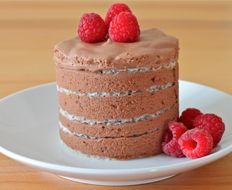 Easiest Chocolate Mousse Layered Cake