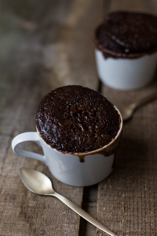 Bolo de chocolate na caneca . Chocolate mug cake