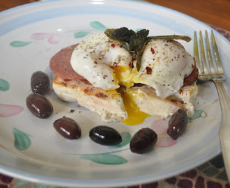 Poached Eggs on Feta Cheese
