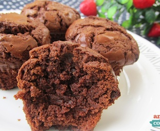 Mini Brownies de Nutella - Apenas 3 ingredientes