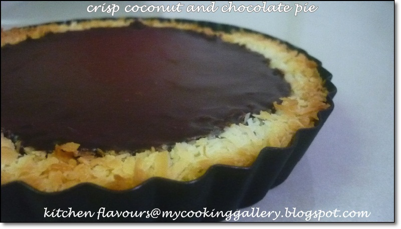 Crisp Coconut And Chocolate Pie : Free And Easy Bake-Along #24 -  Theme : Bake With 4 Ingredients