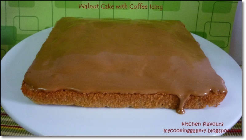 Walnut Cake with Coffee Icing