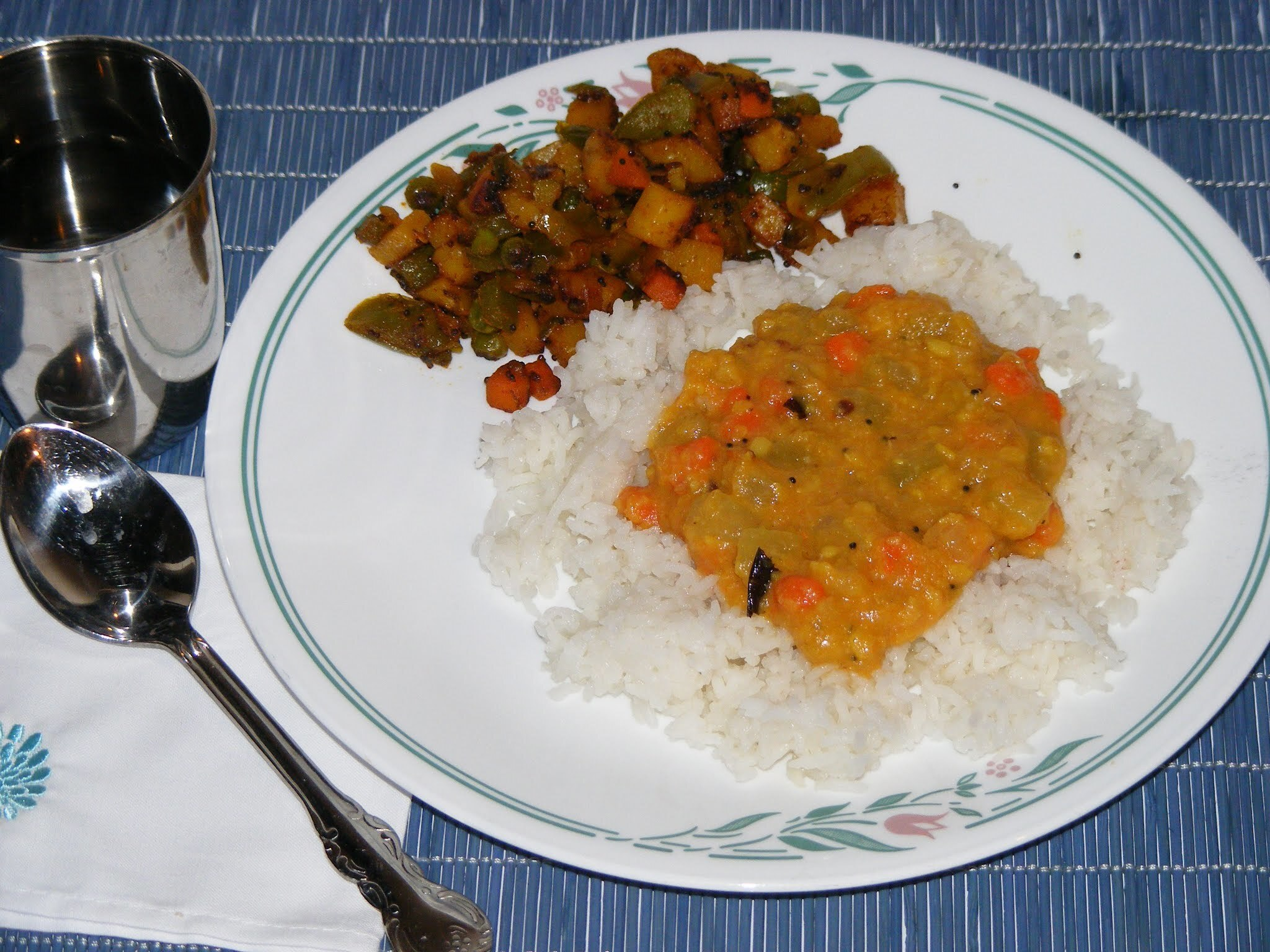 Chow-chow Carrot Kootu (Chayote Squash and Carrot simmered in coconut based stew)