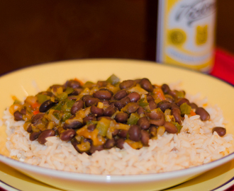 Black Beans and Brown Rice with Achiote