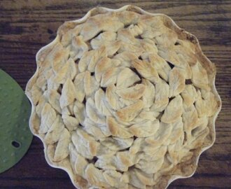 Apple Pie Covered with Leaves