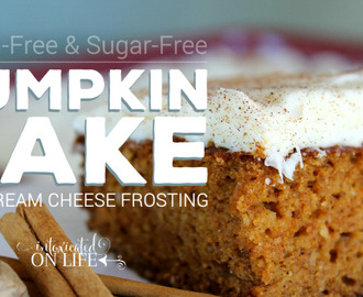 Gluten-Free Pumpkin Cake with Cream Cheese Frosting (Sugar-Free too)