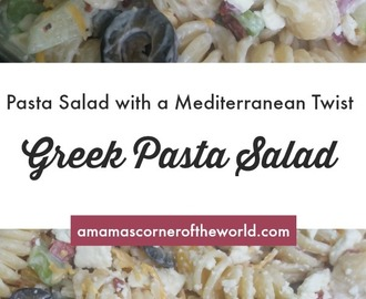 Greek Pasta Salad Recipe for Summer Cookouts
