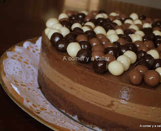 TARTA DOS CHOCOLATES, con y sin thermomix