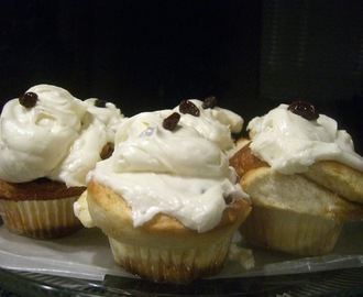 **SugarBeam Cinnamon Roll Saturday 4 ~ Rum Raisin Cinnamon Roll Cupcakes**