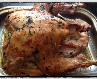 Roasted Turkey with Herb Butter and a few tips for Thanksgiving Day Success