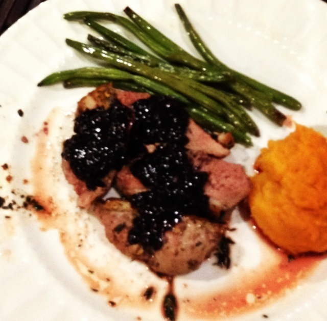 Seared Duck Breast with Blackberry Red Wine Reduction