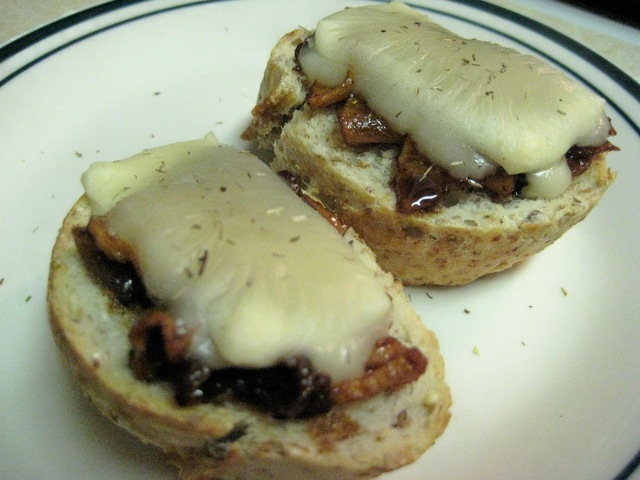 Caramelized Onion & Apple Crostini
