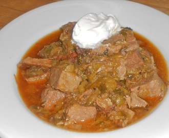 Mesquite Smoked Beef Green Chili ~ The Amargosa Valley!