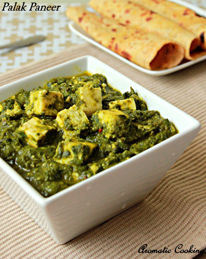Palak Paneer/Mashed Spinach With Indian Cottage Cheese