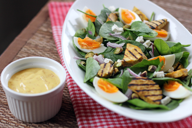 Kumara and Baby Spinach Salad