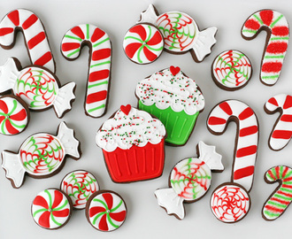Peppermint Candy Decorated Cookies