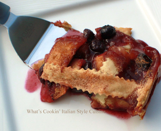 Apple Blueberry Deep Dish Pie Recipe