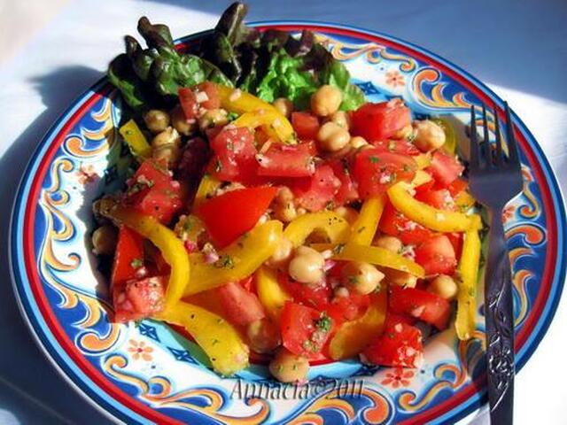 Tomato and Garbanzo Salad