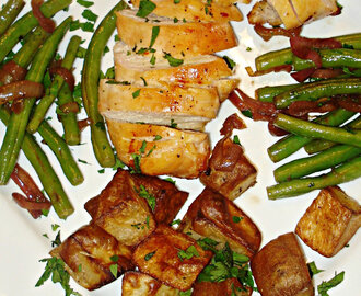 Garlic Chicken and Roasted Potatoes